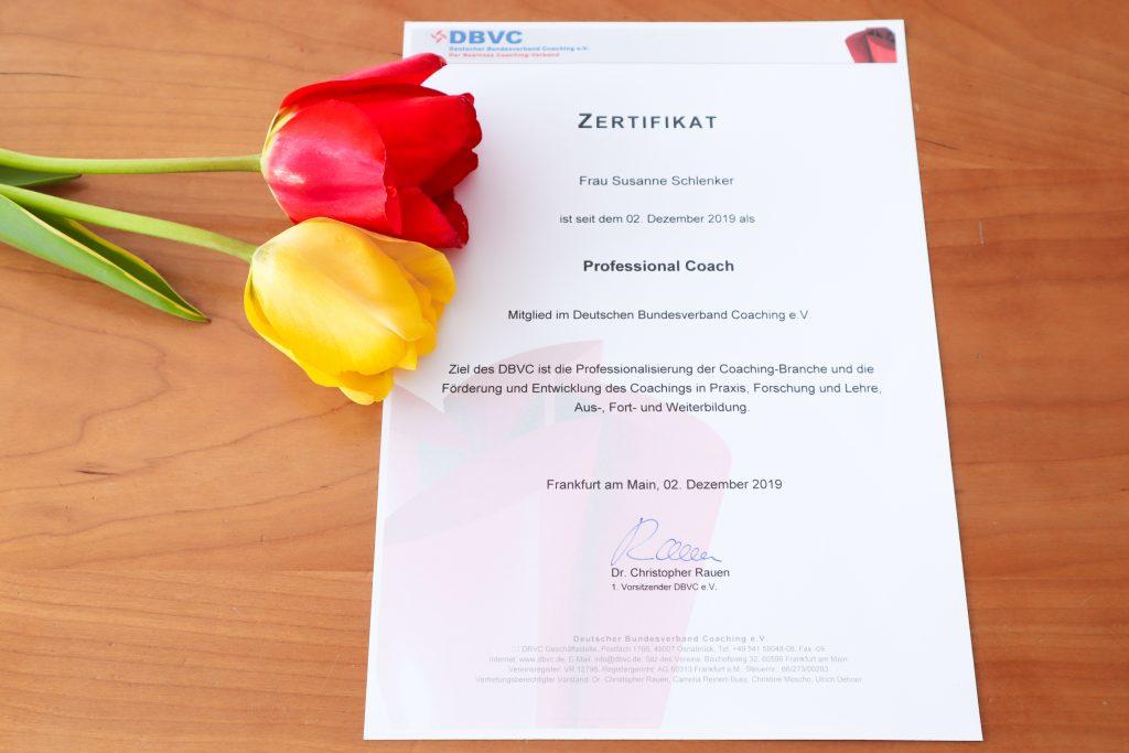 Qualitäts-Zertifkat DBVC Professional Coach