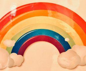 Regenbogen als Zeichen des Sterbens an der Krankenhaustür